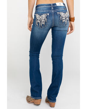 Miss Me Women's Dream Catching Mid Rise Bootcut Jeans, Blue, hi-res