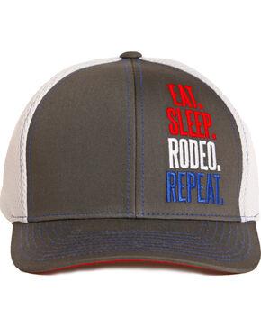 Dale Brisby Men's Eat Sleep Rodeo Repeat Cap, Red, hi-res