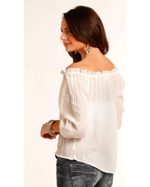 Panhandle Women's Cream Crepe Top , , hi-res