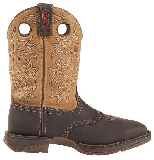 Durango Rebel Waterproof Western Boot - Steel Toe, Brown, hi-res