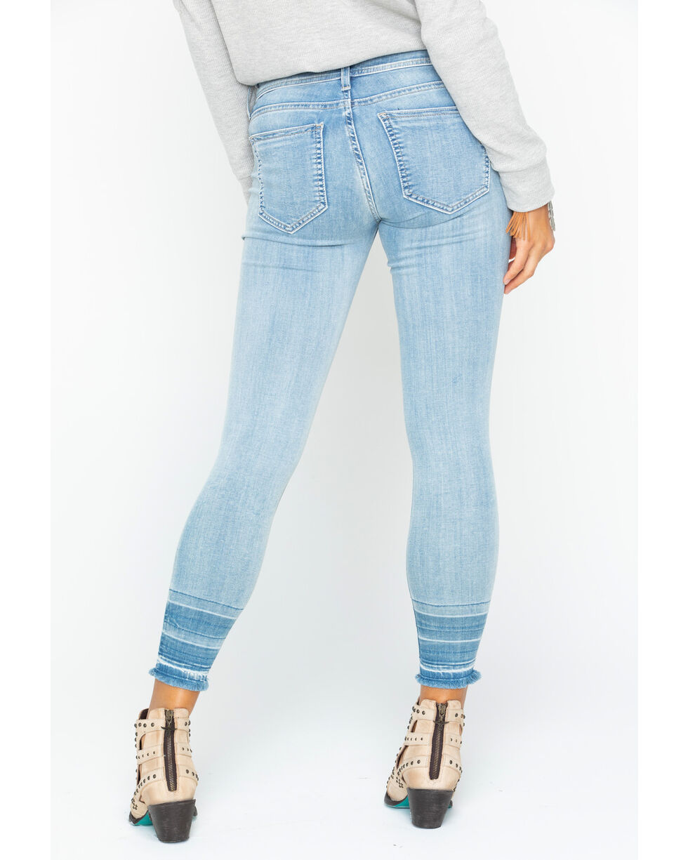 Miss Me Women's Break Of Dawn Mid-Rise Ankle Skinny Jeans, Indigo, hi-res