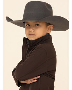 Cody James Boys' Brown Steamboat Softshell Bonded Zip Front Jacket, Dark Brown, hi-res