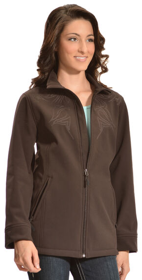 Red Ranch Women's Brown Embroidered Performance Jacket , Brown, hi-res