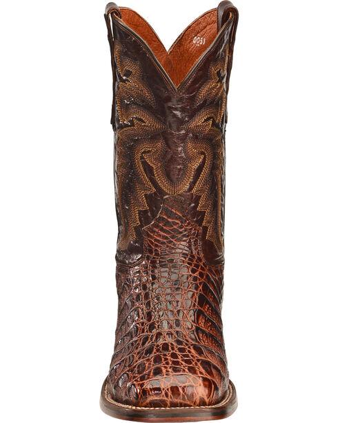 "Dan Post Men's Brass 11"" Caiman Stockman Boots - Square Toe, Bronze, hi-res"
