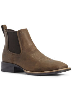 Ariat Men's Booker Ultra Chukka Boots - Square Toe, Brown, hi-res