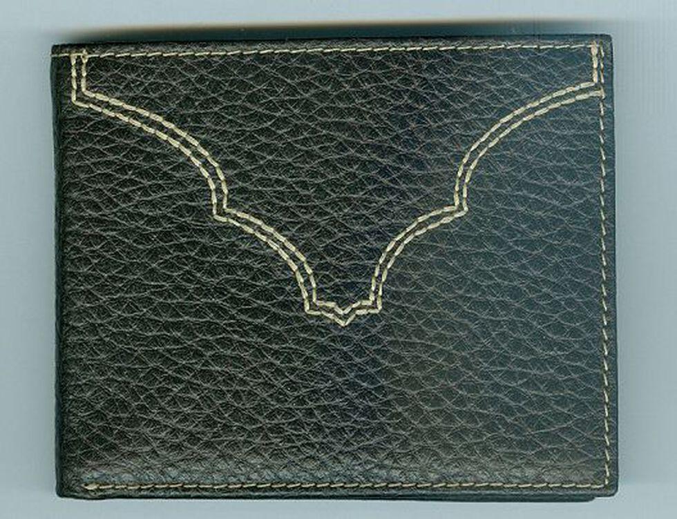 Pebble Grain Leather Wallet, Brown, hi-res