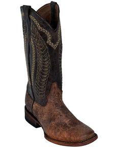 Ferrini Women's Comanchero Western Boots - Square Toe, Chocolate, hi-res