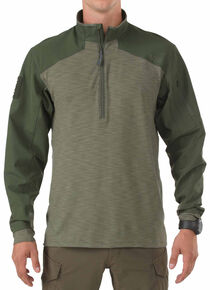 5.11 Rapid Response Quarter Zip, Green, hi-res