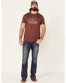 Moonshine Spirit Men's Heather Burgundy Canyon Graphic Short Sleeve T-Shirt , Burgundy, hi-res