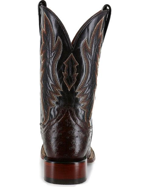 Dan Post Men's Brown Full Quill Ostrich Exotic Boots - Square Toe , Brown, hi-res