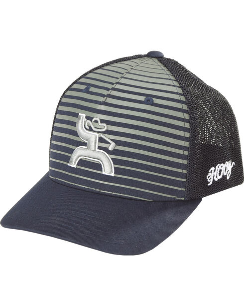 Hooey Men's Black Golf Flexfit Baseball Cap , Black, hi-res