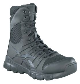"Reebok Men's Dauntless 8"" Tactical Boots - Round Toe, Black, hi-res"