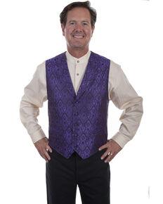 Rangewear by Scully Men's Purple Le Fleur Vest , Purple, hi-res