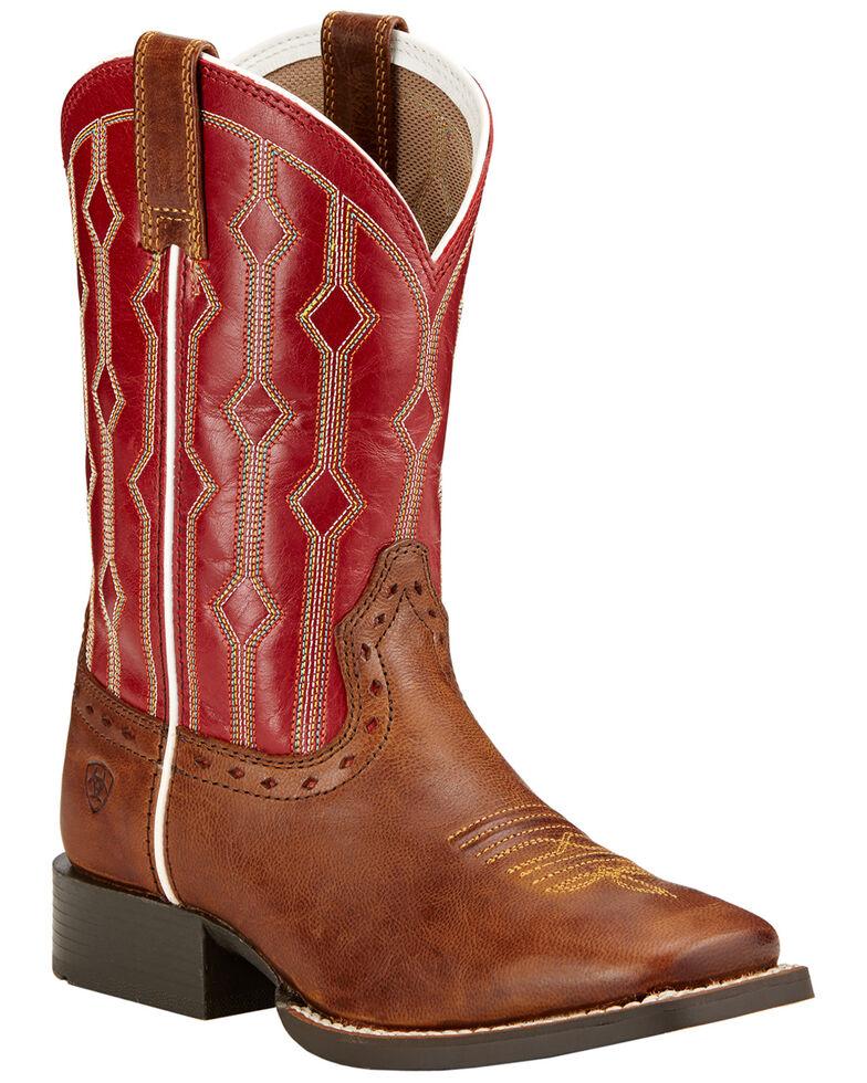 Ariat Children's Live Wire Cowboy Boots - Square Toe , Wood, hi-res