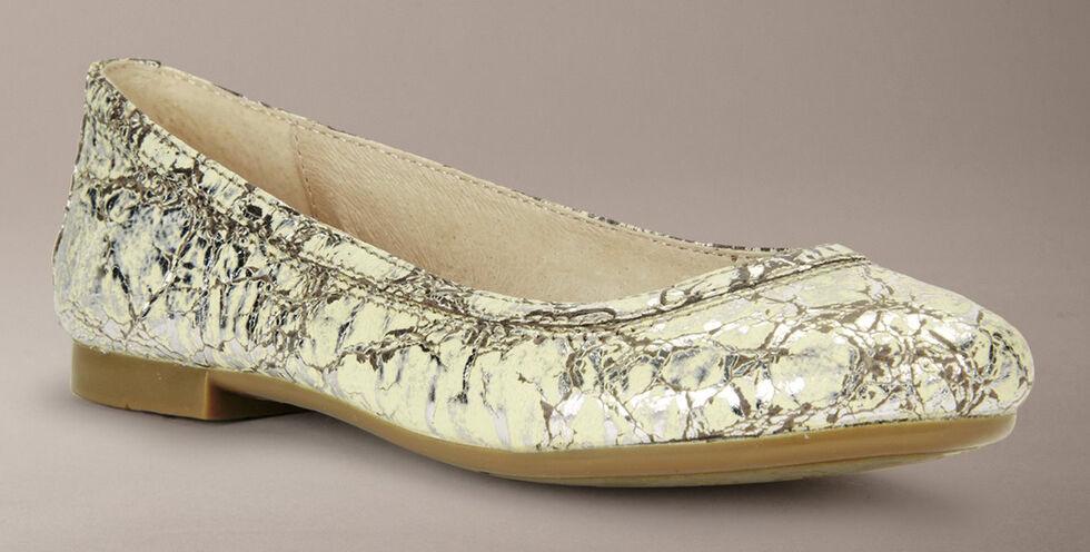 Frye Girls' Carson Ballet Flats, Silver, hi-res
