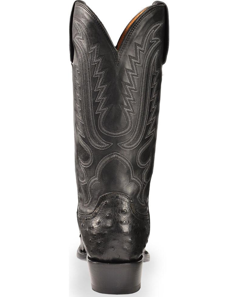 cac3b4bbb1f Lucchese Men's Handmade Black Luke Full Quill Ostrich Boots - Snip Toe