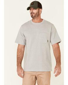 Hawx Men's Solid Light Grey Forge Short Sleeve Work Pocket T-Shirt - Tall, Light Grey, hi-res