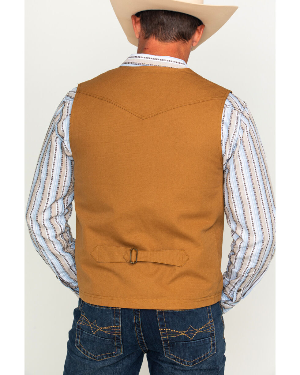 Cody James Men's Dagget Canvas Vest, Camel, hi-res