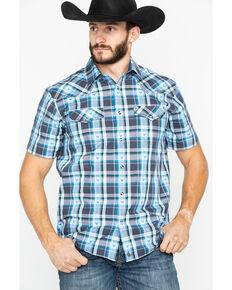 308083915160c Cody James Mens Bushwacker 2.0 Med Plaid Short Sleeve Western Shirt