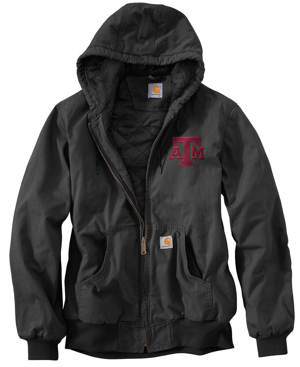 Carhartt Texas A&M Aggies Sandstone Active Jacket, Black, hi-res