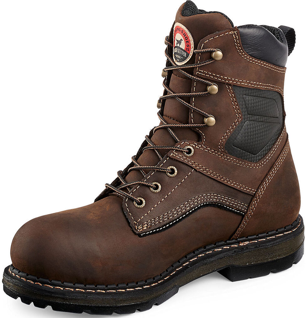 "Irish Setter by Red Wing Shoes Men's Ramsey 8"" Work Boots - Aluminum Toe, Brown, hi-res"