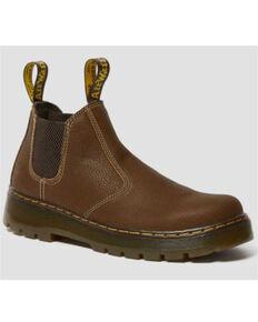 Dr. Martens Women's Hardie Chelsea Work Boots - Soft Toe, Brown, hi-res