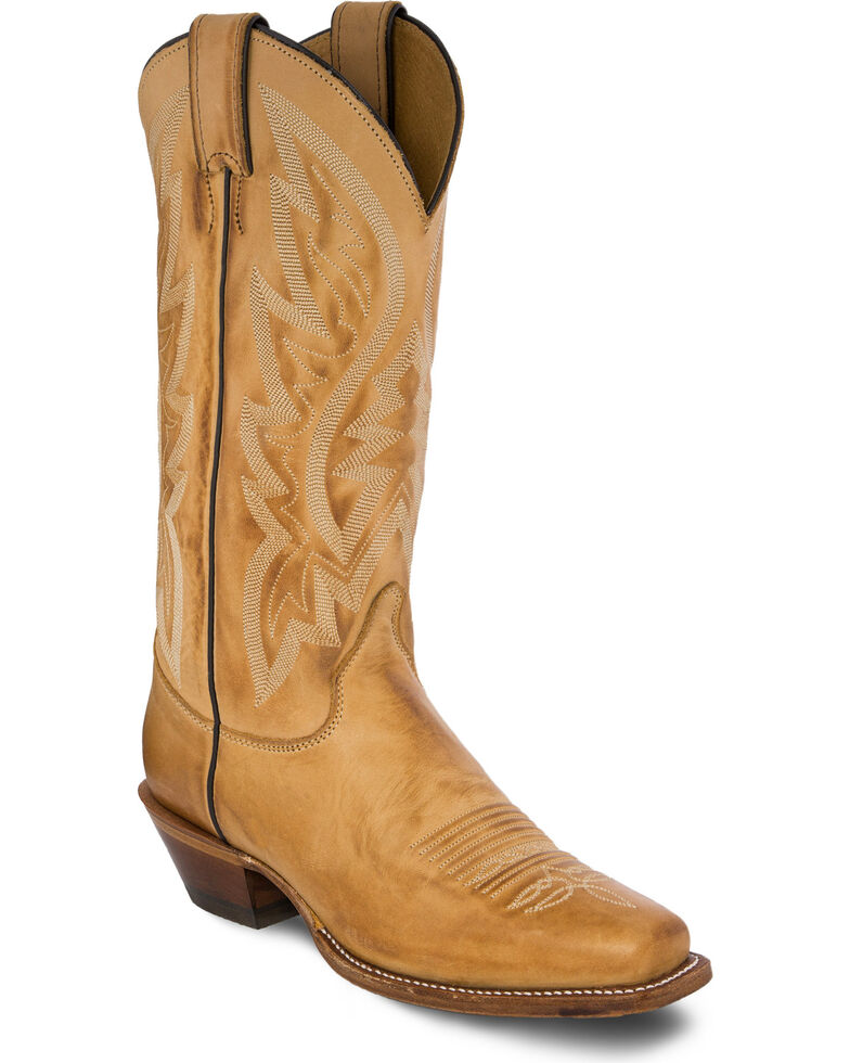 95daa20c70362 Zoomed Image Justin Bent Rail Women's Quinlan Golden Tan Cowgirl Boots -  Square Toe , Gold, hi