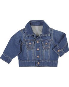 Wrangler Infant Boys' Long Sleeve Classic Denim Jacket, Indigo, hi-res