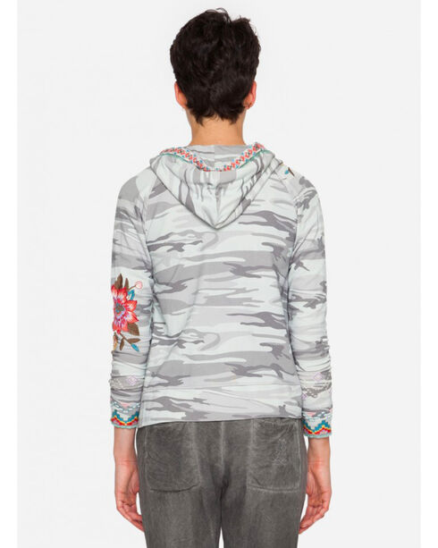Johnny Was Women's Cortez Fitted Hoodie , Camouflage, hi-res
