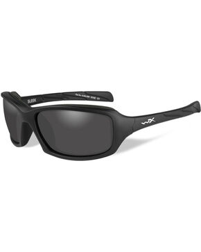 Wiley X Sleek Grey Lens Matte Black Protective Sunglasses, Black, hi-res
