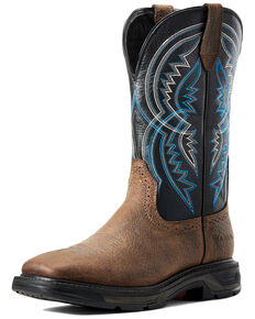 Ariat Men's Coil Workhog Western Work Boots - Soft Toe, Brown, hi-res