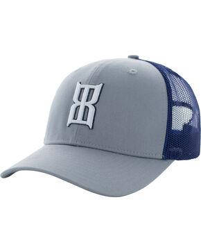 BEX Men's Badlands Icon Logo Adjustable Cap, Silver, hi-res