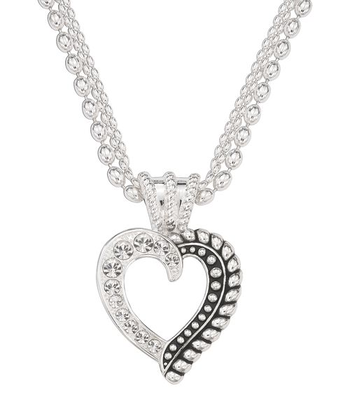 Montana Silversmiths Twisted Rope Rhinestone Choker Necklace, Silver, hi-res