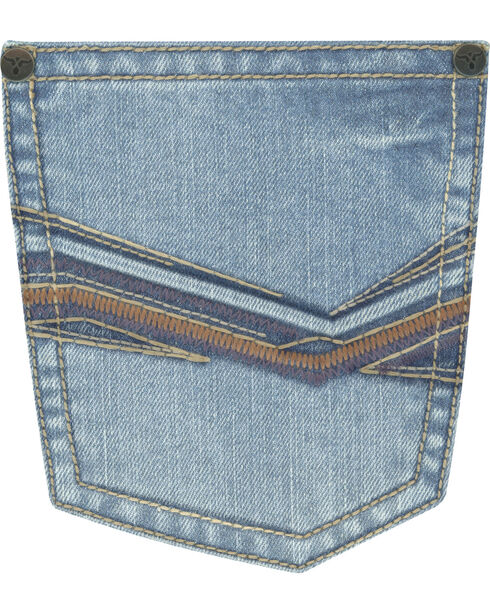 Wrangler Men's Blue 20X No. 33 Relaxed Fit Jeans - Straight Leg , Medium Blue, hi-res