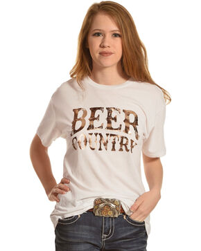 Z Supply Women's Beer Country Short Sleeve T-Shirt, White, hi-res