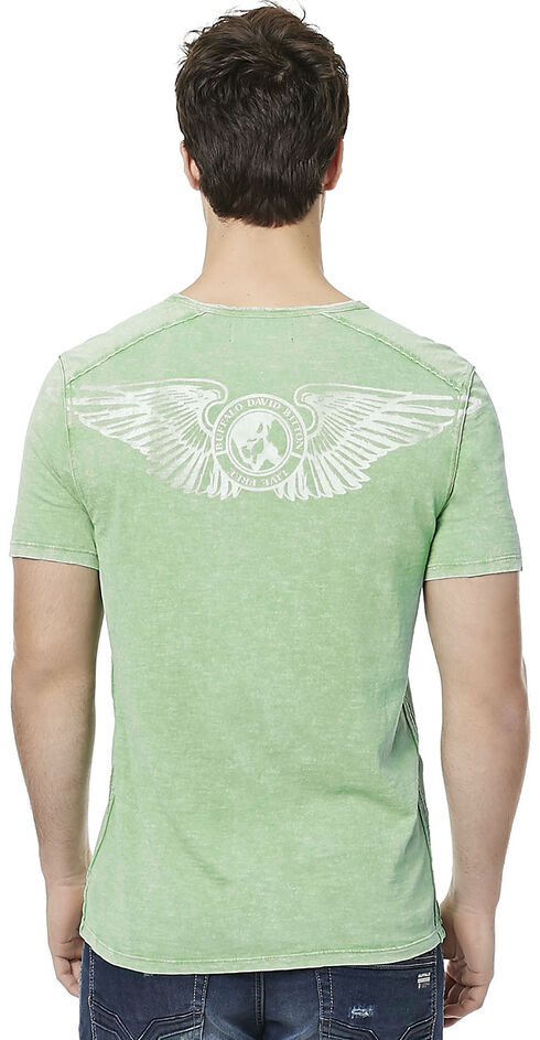 Buffalo Men's Green Narwayne Slit Neck T-Shirt , Green, hi-res