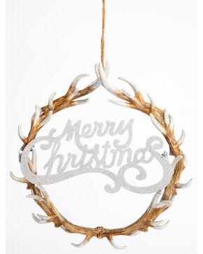 BB Ranch Christmas Antler Wreath, Natural, hi-res