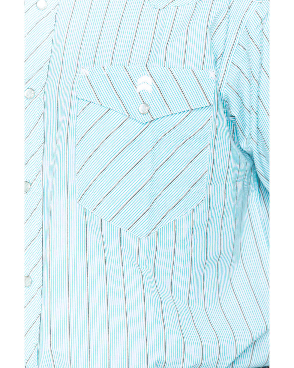 Resistol Men's Smith Valley Long Sleeve Snap Shirt, Blue, hi-res
