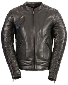 Milwaukee Leather Women's Black Conceal Carry Embroidered Phoenix Leather Jacket , Black, hi-res