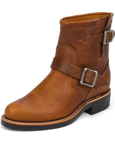 Chippewa Women's Renegade Engineer Boots - Round Toe, Tan, hi-res