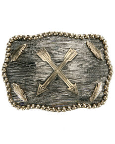 And West Crossed Arrows Iconic Buckle, Gold, hi-res