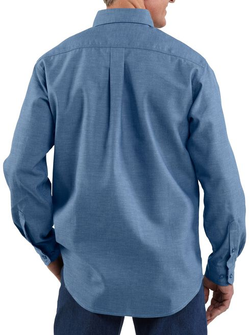 Carhartt Flame Resistant Chambray Work Shirt, Blue, hi-res