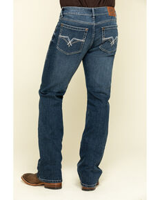 Rock 47 By Wrangler Men's Reverb Stretch Slim Bootcut Jeans , Blue, hi-res