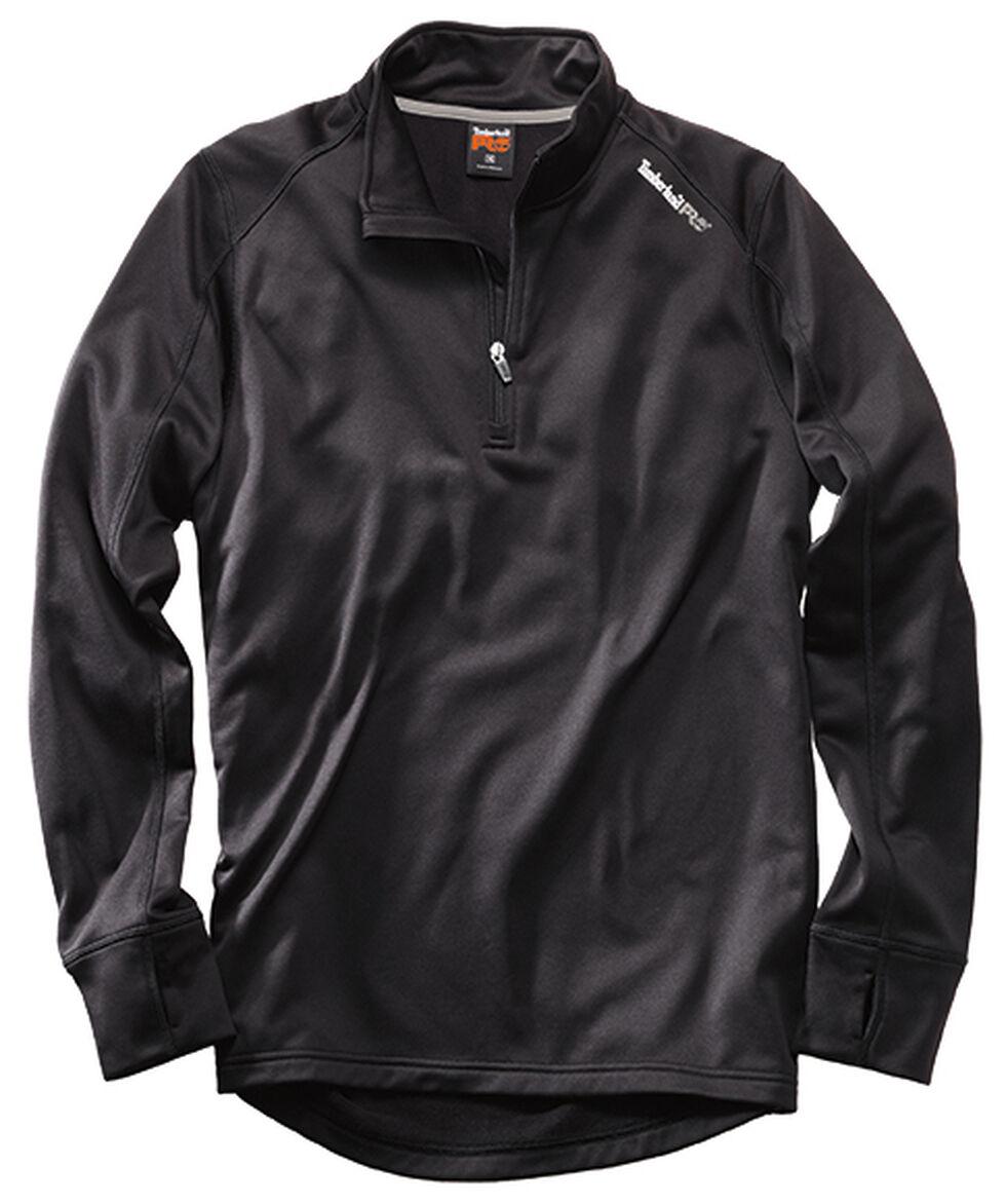Timberland Pro Men's Understory 1/4-Zip Fleece Shirt, Black, hi-res