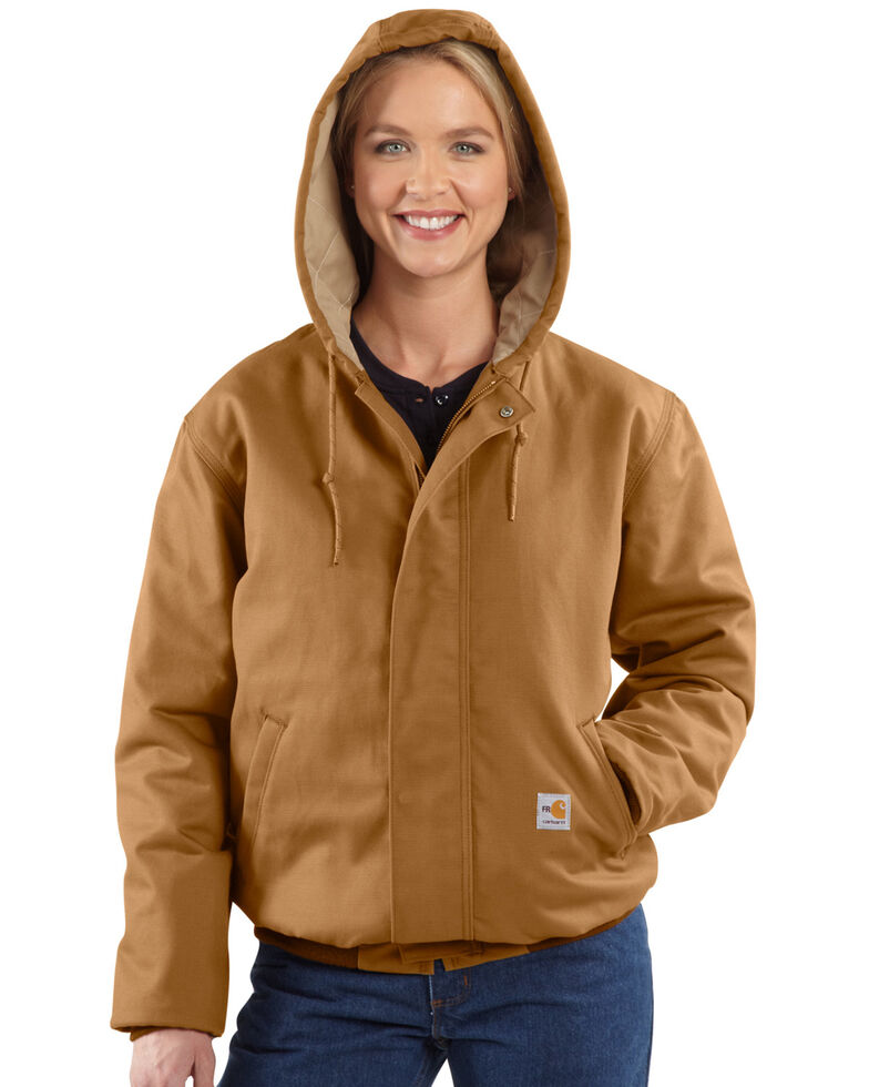 Carhartt Women's Active Flame-Resistant Work Jacket, Brown, hi-res