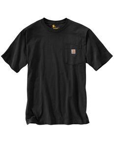 Carhartt Men's Solid Short Sleeve Pocket Work T-Shirt - Big & Tall, Black, hi-res