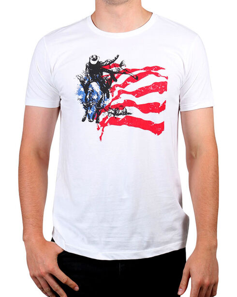 Cody James Men's American Rodeo Rider Graphic Tee , White, hi-res