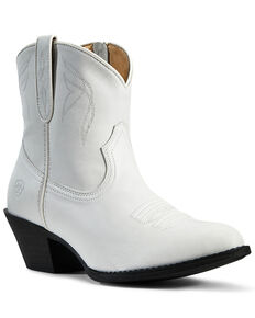 Ariat Women's Darlin Zipper Booties - Round Toe, White, hi-res