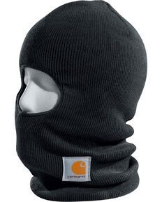 Carhartt Rib Knit Face Mask, Black, hi-res