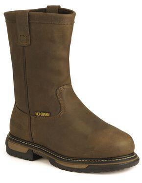 Rocky IronClad Waterproof Work Boots - Steel Toe, Tan, hi-res